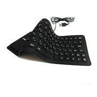 USB клавиатура силиконовая компьютерная KEYBOARD X3
