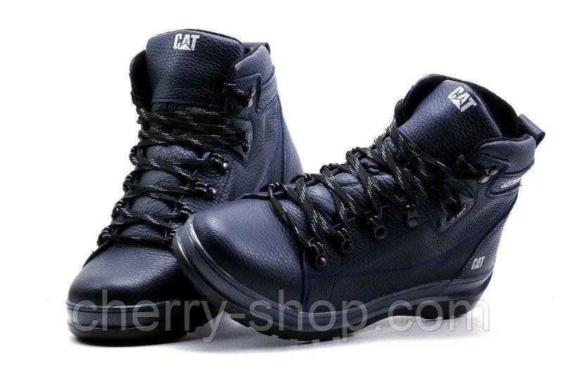 Мужские зимние кожаные ботинки CAT