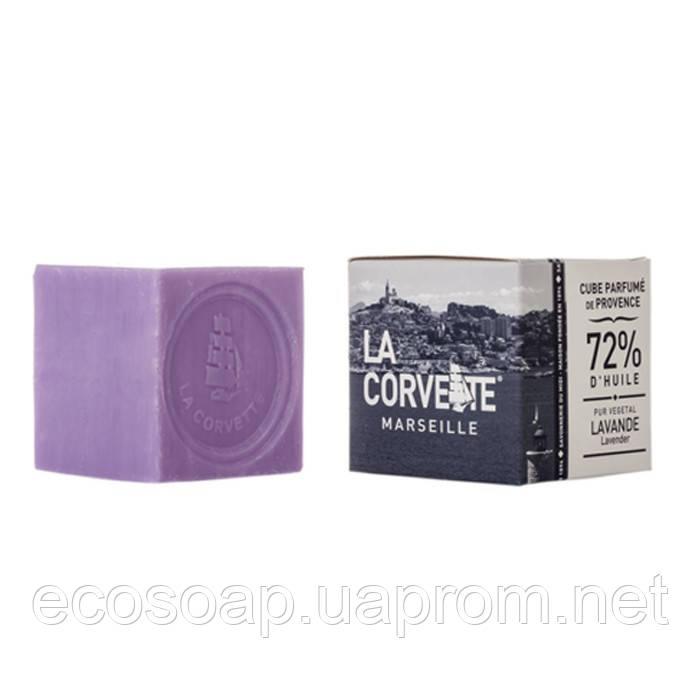 Мыло прованс, куб, коробка LAVANDE / Лаванда, 100 г