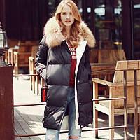 Пальто стеганое с натуральным мехом 589 (КЭТ)
