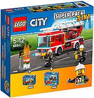 Конструктор Lego Супер Пак 3 в 1 Пожарная служба 66541 Серия City