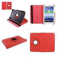 Кожаный чехол-книжка TTX (360 градусов) для Samsung Galaxy Tab 3 Lite 7.0 SM-T110 / T111 (Красный)