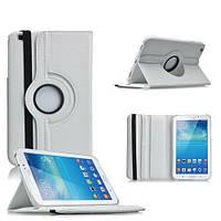 Кожаный чехол-книжка TTX (360 градусов) для Samsung Galaxy Tab 3 8.0 T3100/T3110 (Белый)