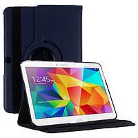 Кожаный чехол-книжка TTX (360 градусов) для Samsung Galaxy Tab 4 10.1 SM-T530 (Синий)