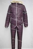 Женский очень теплый зимний костюм moschino