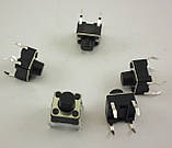 Кнопка тактовая 4-pin 6 X 6 X 6 мм. 1 шт., фото 2