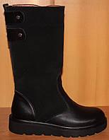 Детские сапоги высокие замшевые зимние, замшевая детская обувь зимняя от производителя модель О-О28зам