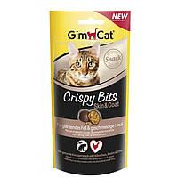 Gimcat Crispy bits Skinandcoat лакомство для здоровой кожи и блестящей шерсти кошек, 40г