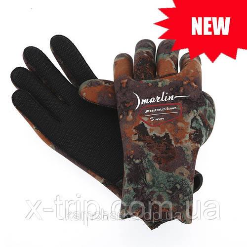 Перчатки для подводной охоты и дайвинга Marlin Ultrastretch Brown 5 мм