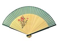 Бамбуковый веер зеленый женский