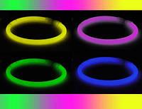Светящиеся неоновые браслеты 100 штук в упаковке
