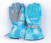 Перчатки горнолыжные женские HEAD зимние голубые