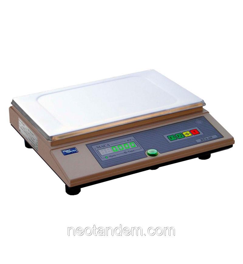 Весы технические до 3кг, модель ВТА-60/3-7А, с аккумулятором