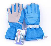 Перчатки горнолыжные женские Jassen зимние голубые