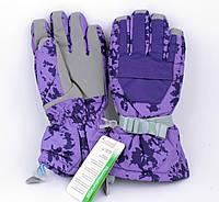 Перчатки горнолыжные женские Jassen зимние фиолетовые