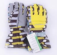 Перчатки горнолыжные женские Jassen зимние желтые
