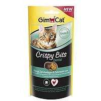 Gimcat Crispybits Dental лакомство против образования зубного камня и зубного налета у кошек, 40г