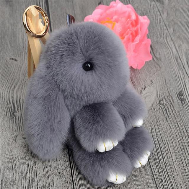 брелок зайчик из меха кролика