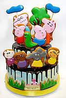 Детский Торт  Свинка Пеппа  (кремовый без мастики)