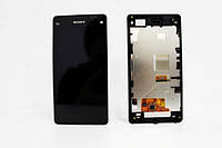Дисплей для Sony D5503 Xperia Z1 Compact + touchscreen, чёрный, с передней панелью