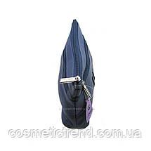 Косметичка женская синяя из натуральной кожи Garry Swan (Индия) 512151/blue  22*13*5 см, фото 3