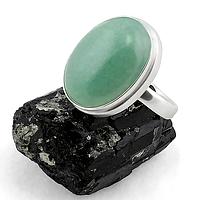Нефрит, серебро 925, кольцо, 154КН
