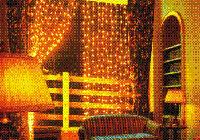 Гирлянда Штора Новогодняя Занавеска 300 Лампочек 3,5 х 0,7 м  Желтый, фото 1