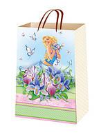 Подарочные пакеты для девушек размер 38х24 см