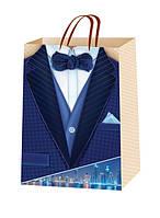 Подарочные пакеты для мужчин размер 38х24 (12 шт. упаковка)