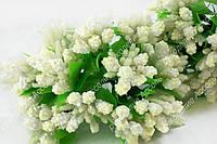 Веточки для декора бело-молочные уп/12 веточек