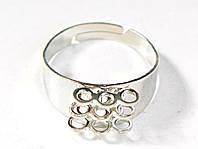 Основа для кольца Серебряная 10 мм 9 петель 1 шт