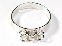Основа для кольца Серебряная 10 мм 6 петель 1 шт
