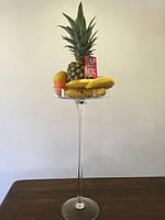 Ваза -мартинка на высокой ножке, подставка для фруктов, 60*25 см