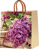 Пакеты бумажные для подарков Цветы размер 24х24см