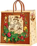 Подарочные пакеты новогодние размер 24х24