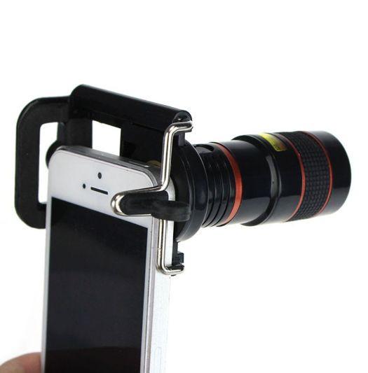 Универсальный объектив c оптическим увеличением 8х для смартфона с держателем телевик для смартфона SKU0000450