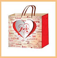 Пакеты подарочные на день Валентина размер 24х24см