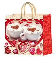 Пакеты подарочные на день влюбленных размер 24х24 см