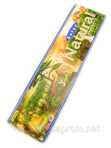 Благовония натуральные Натурал, Satya NATURAL, 15 шт. в упаковке