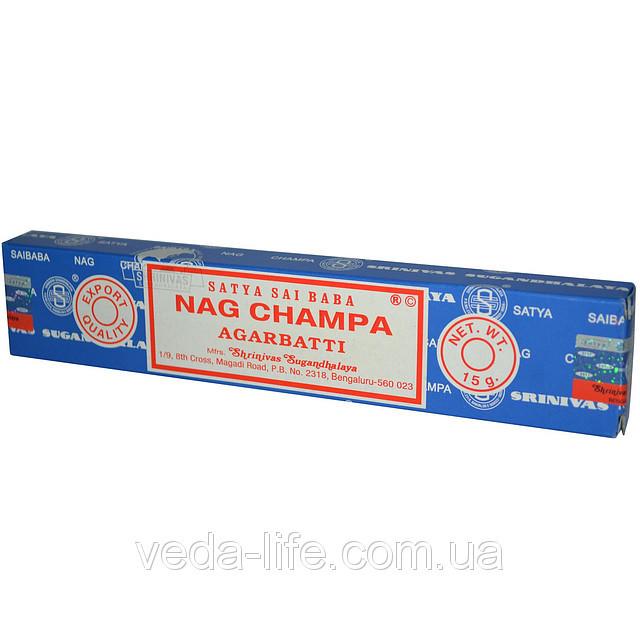 Благовония натуральные Наг Чампа, Satya NAG CHAMPA, 11 шт. в упаковке