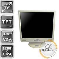 """Монитор 19"""" Fujitsu P19-1 (TN/5:4/VGA/DVI/колонки) class A БУ, фото 1"""