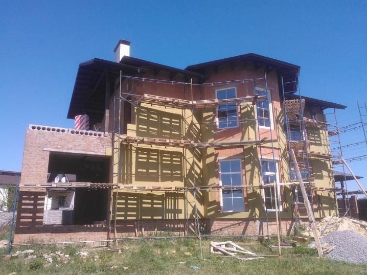Утепление фасада частного дома минватой 2
