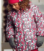 Зимний термокостюм для девочки 6, 10 лет р. 116, 122, 140 (куртка, полукомбинезон, манишка) ТМ PerlimPinpin Пиксель