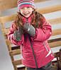 Зимний термокостюм для девочки  6-7 лет (куртка, полукомбинезон, манишка) ТМ Perlim Pinpin Ягода