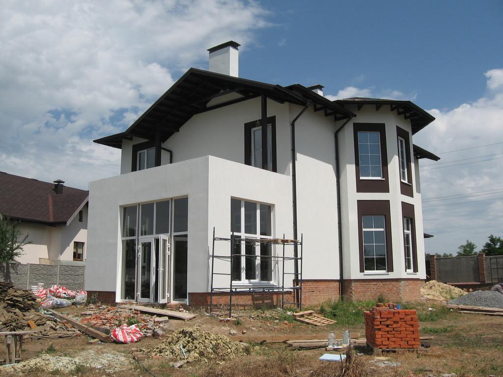 Утепление фасада частного дома минватой 5