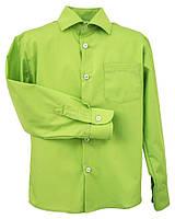 Рубашка Standard с длинным рукавом для мальчика 6-8 лет, р. 116, 128 Салатовая Bebepa 1106-040