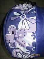 301 Кукольная коляска-трансформер 2в1 с переноской Adbor Mini Ring (фиолетовый, цветы большие)