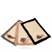 Коврик когтеточка для кошек с игрушкой и кошачьей мятой, сизаль/плюш Feline Star (Карли-Фламинго) Karlie Flamingo