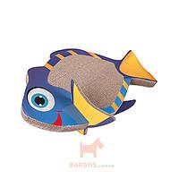 Рыба драпак когтеточка доска для котов Fish Scratching Board (Карли-Фламинго) Karlie Flamingo