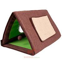 Спальное место домик драпак для котов Cat Tent 3 in 1 (Карли-Фламинго) Karlie Flamingo